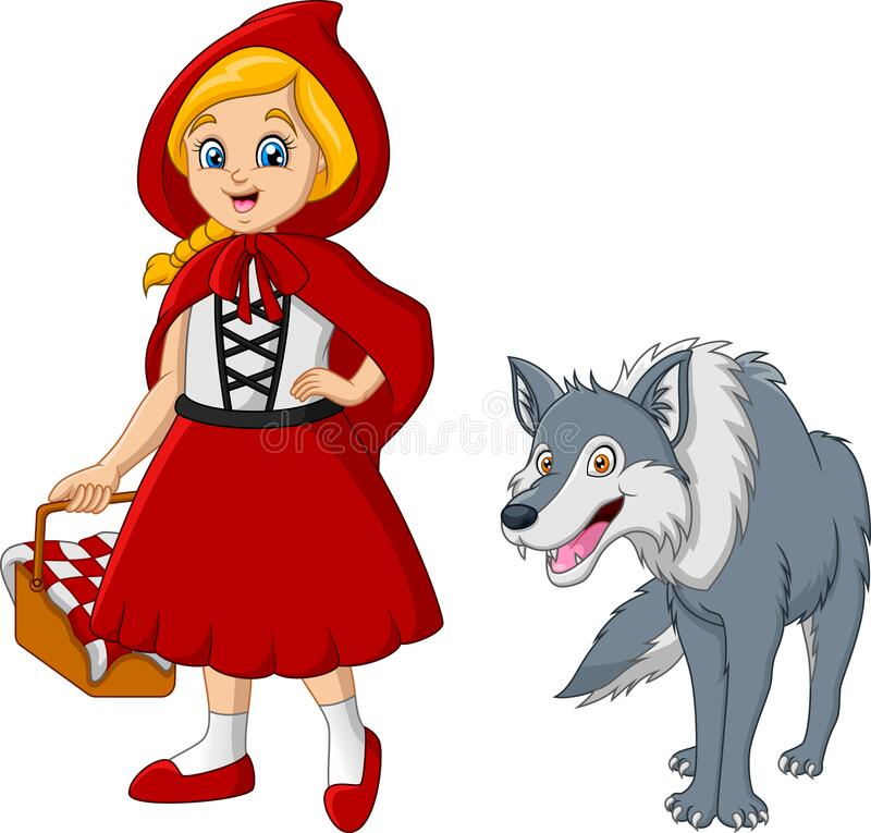 Little Red Riding Hood Stock Illustrations 850 Little Red Riding