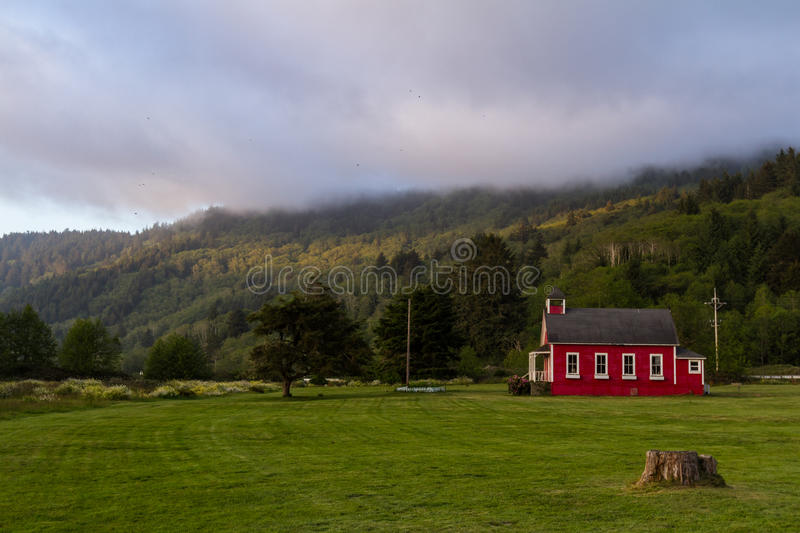 Download Little red school house stock image. Image of landscape - 57555457