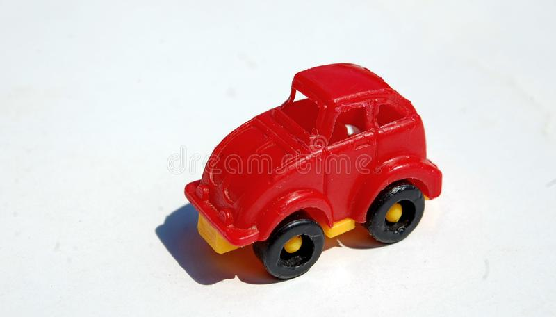 Little red toy car royalty free stock photo