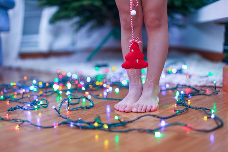 Download Little Red Tree In The Hands Of Charming Cute Girl Stock Photo - Image: 33974882