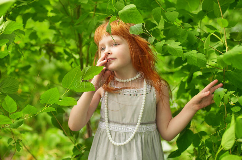 Download Little redheaded girl stock image. Image of crumb, children - 30251499