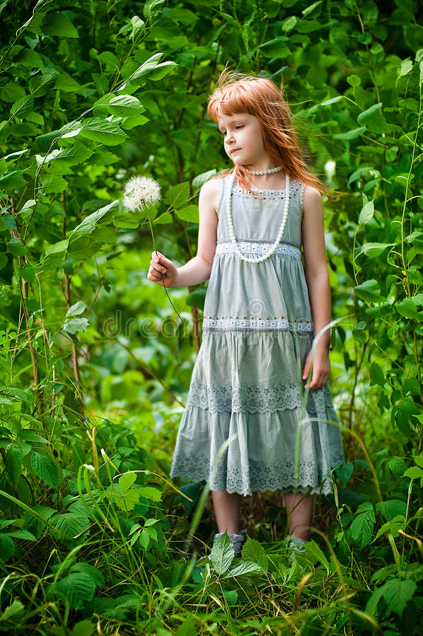 Download Little redheaded girl stock photo. Image of girl, beautiful - 30251746