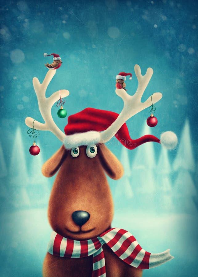 Little reindeer. Illustration of a little reindeer royalty free illustration