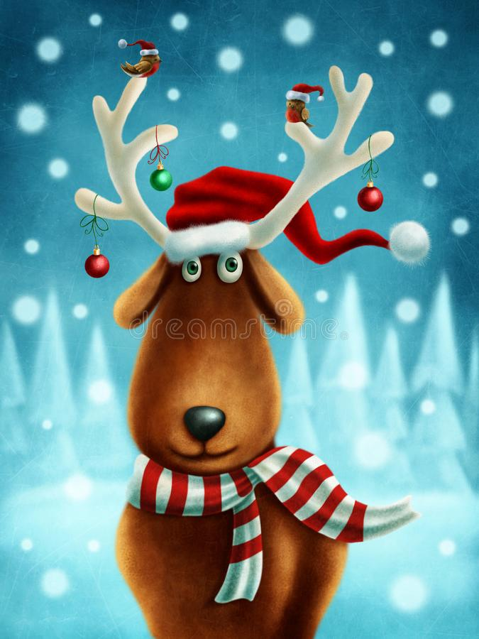 Little reindeer. Illustration of a little reindeer vector illustration