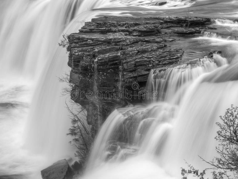 Little River Falls. Little River Canyon National Preserve. Alabama. Little River Falls. Little River Canyon National Preserve.  Alabama. Black and White stock image