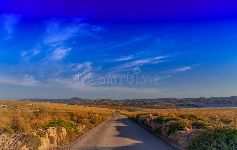LITTLE ROAD, GREAT DESTINY stock photography