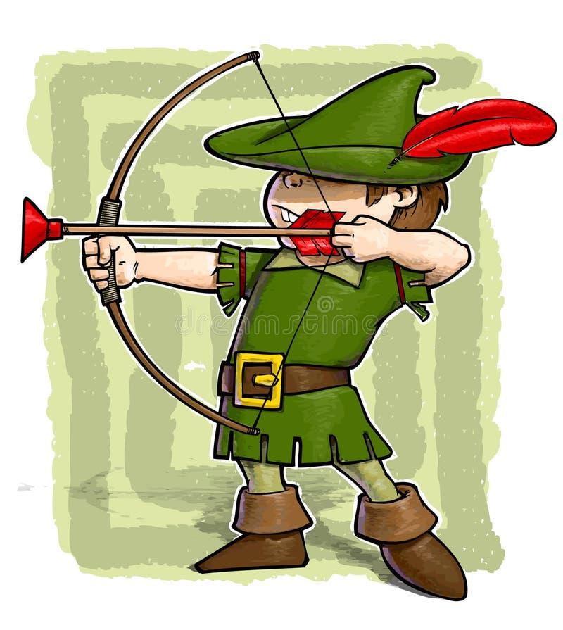 Download Little Robin Hood. stock illustration. Image of masque - 23236459