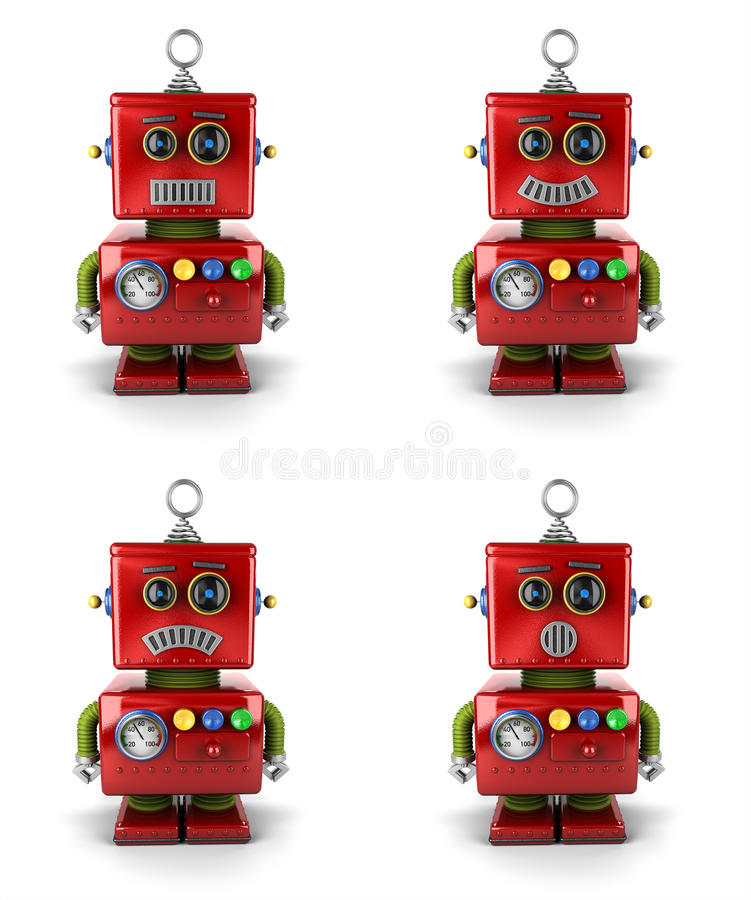 Little robot royaltyfri illustrationer