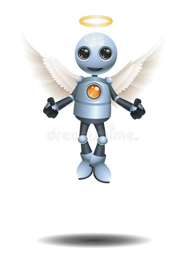 little robot become an angel vector illustration