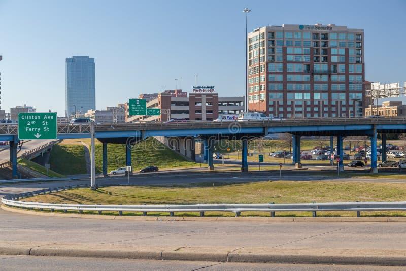 Little Rock, AR/USA - circa im Februar 2016: Stadtzentrum von Little Rock, Arkansas stockfoto
