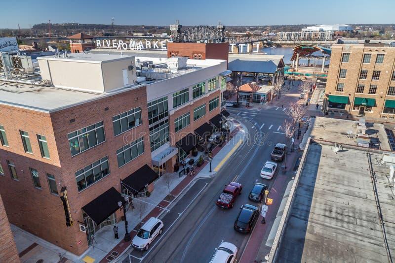 Little Rock, AR/USA - vers en février 2016 : Le centre ville de Little Rock, Arkansas image stock