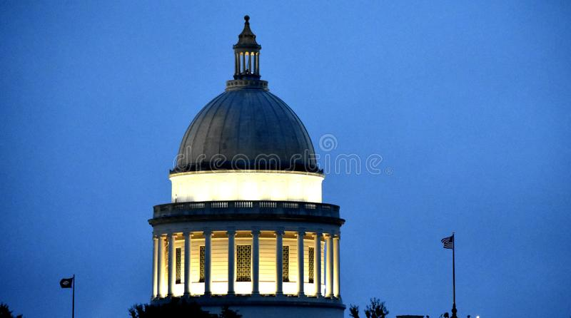 Little Rock Capital building Dome Rotunda royalty free stock photo