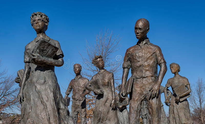 Little Rock Nine Civil Rights Memorial royalty free stock images