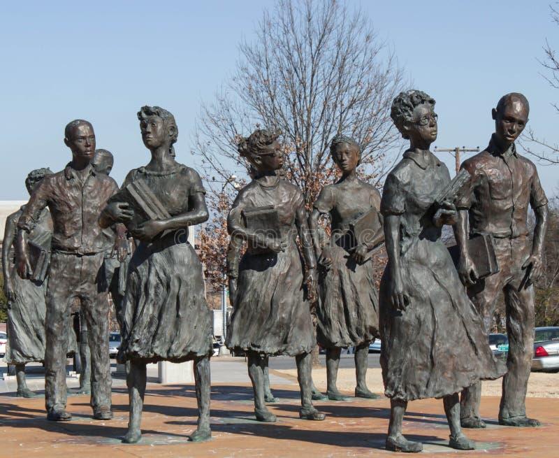 Little Rock nio medborgerliga rättigheter arkivbilder