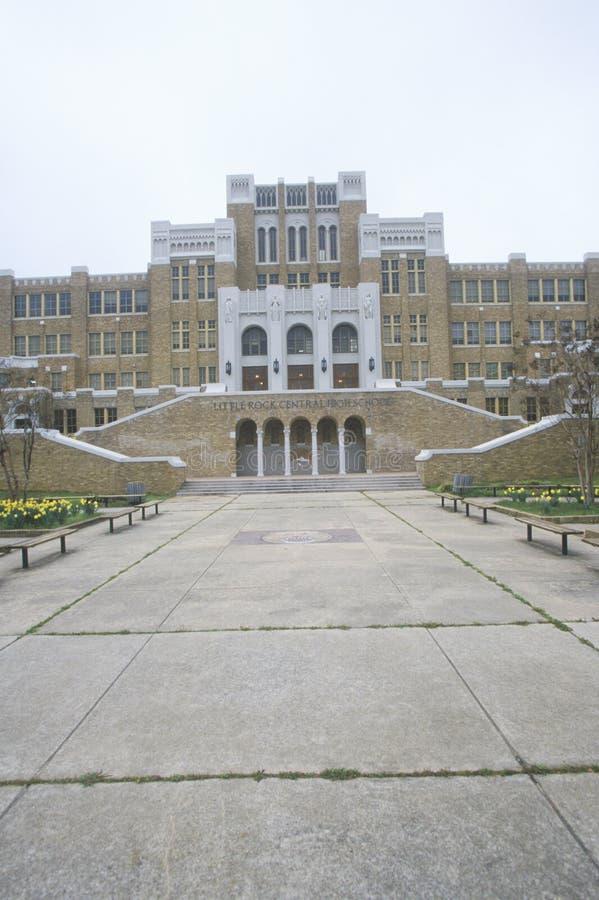 Little Rock Szkoła Średnia Historyczna Środkowa obrazy stock