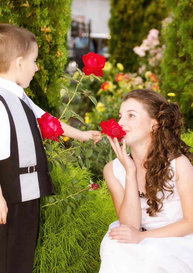 Little romance royalty free stock photo