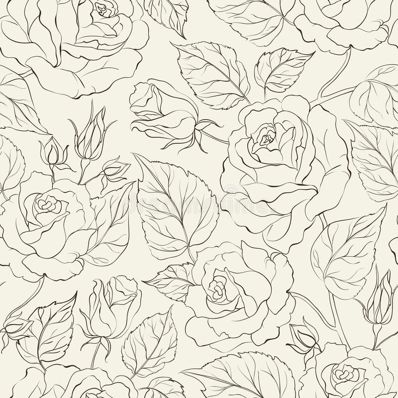 Download Little Rose Seamless Background. Stock Vector - Illustration of artwork, fabric: 30741082