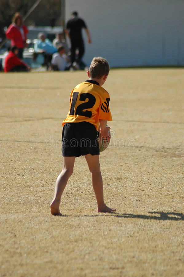 Download Little Rugby Player Stock Photo - Image: 1096090
