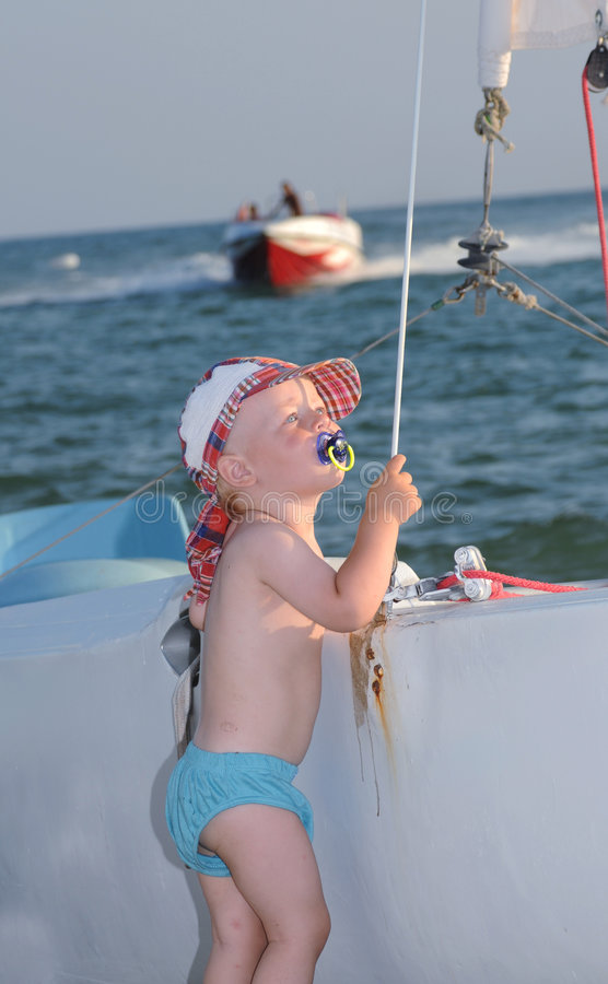 Little sailor royalty free stock photo