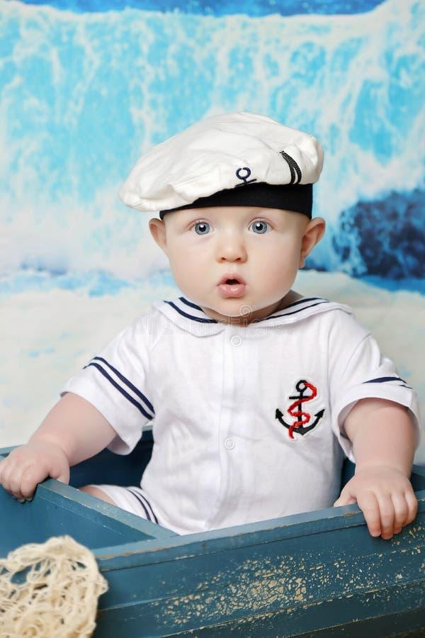 Download Little sailor stock photo. Image of sailing ocean clothed - 101980580  sc 1 st  Dreamstime.com & Little sailor stock photo. Image of sailing ocean clothed - 101980580