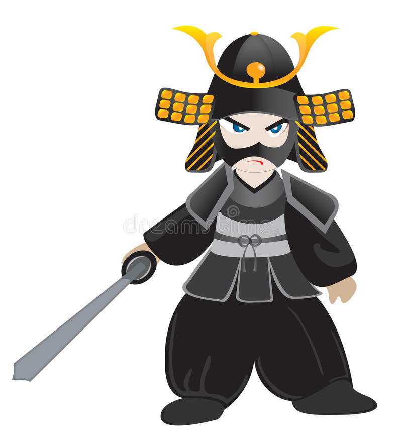 Download Little samurai stock photo. Image of self, kung, background - 30744968
