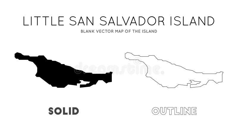 Little San Salvador Island Map. Stock Vector - Illustration ...