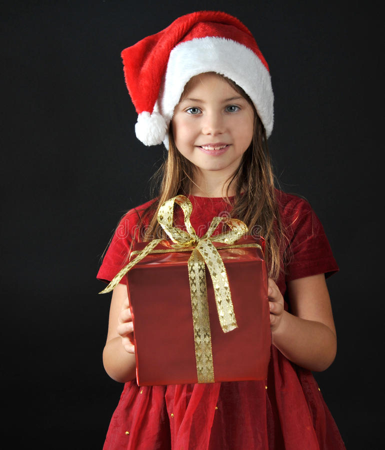 Little santa stock photography