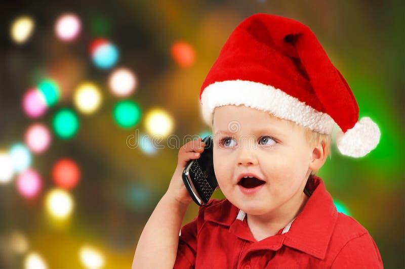Little Santa boy royalty free stock images