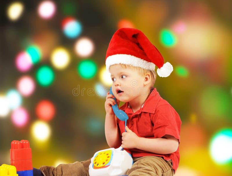 Little Santa boy royalty free stock image