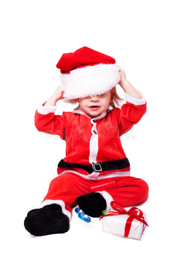 Download Little Santa Claus stock photo. Image of background, portrait - 23188810