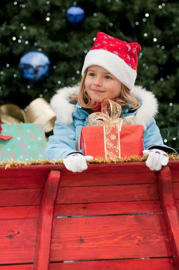 Download Little Santa Claus helper stock photo. Image of present - 16454056