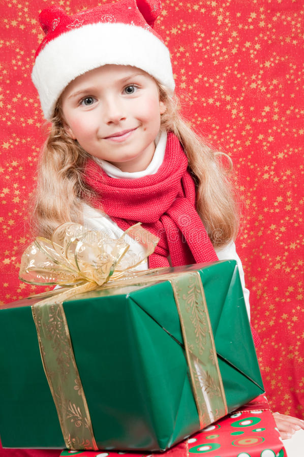 Little Santa Claus Helper Stock Images