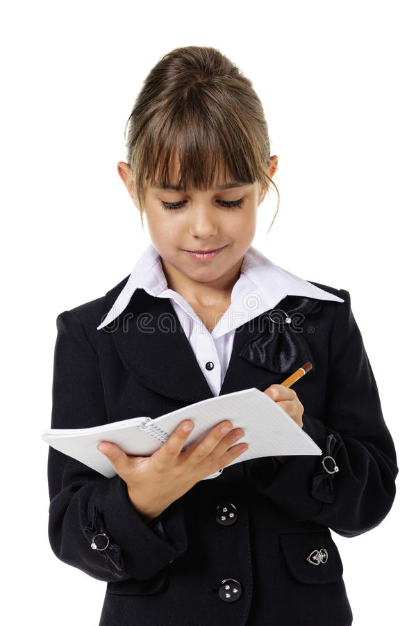 Download Little School Girl In Uniform Stock Photo - Image: 20531756