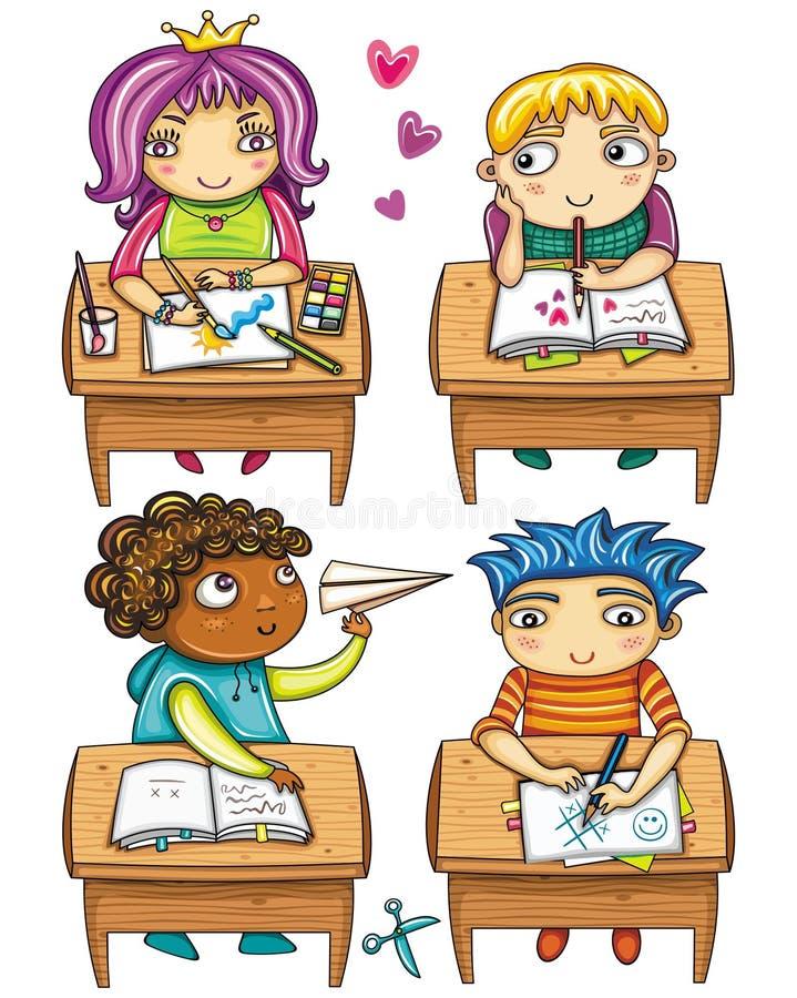 Download Little schoolchildren, stock vector. Illustration of doodle - 16349312