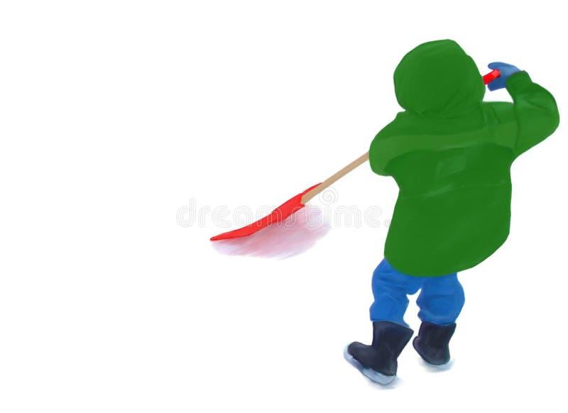 Little shoveller royalty free stock image