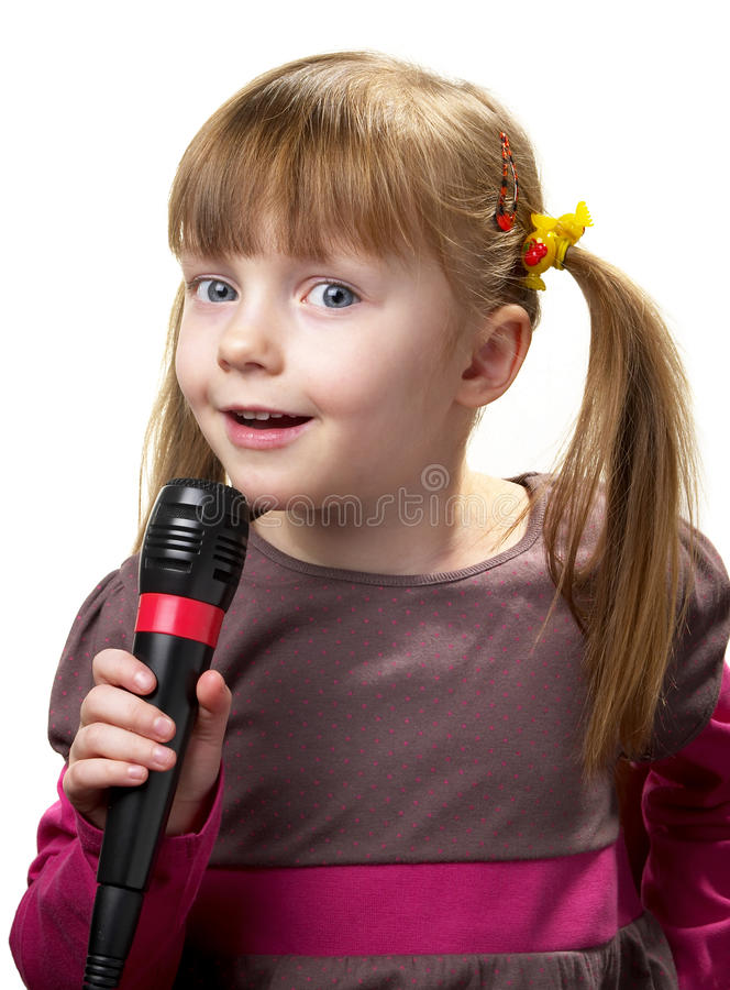 Little singer royalty free stock photo