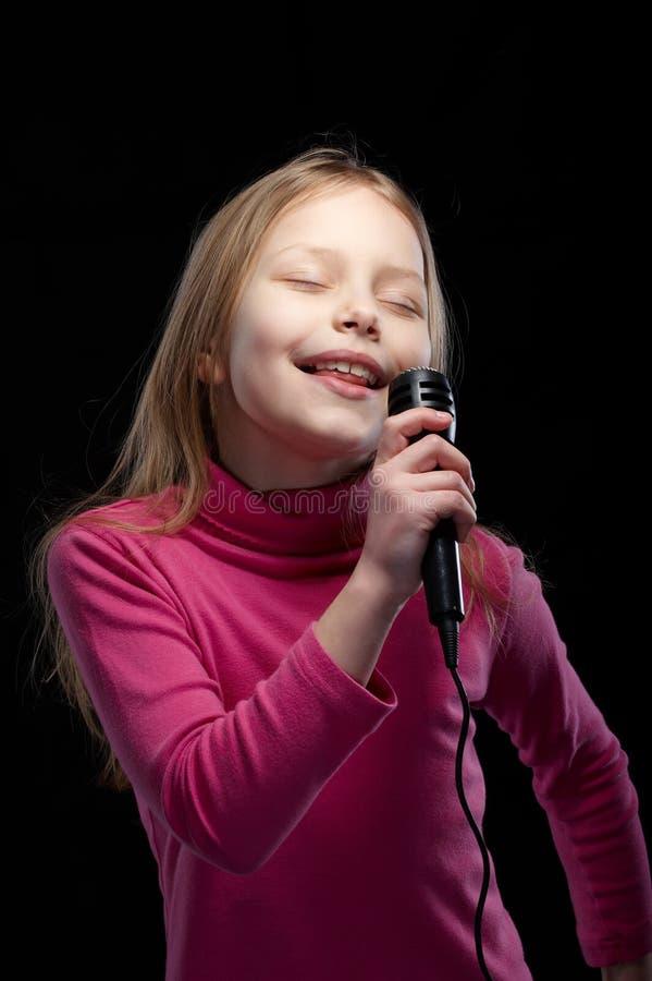 Little singer stock photography