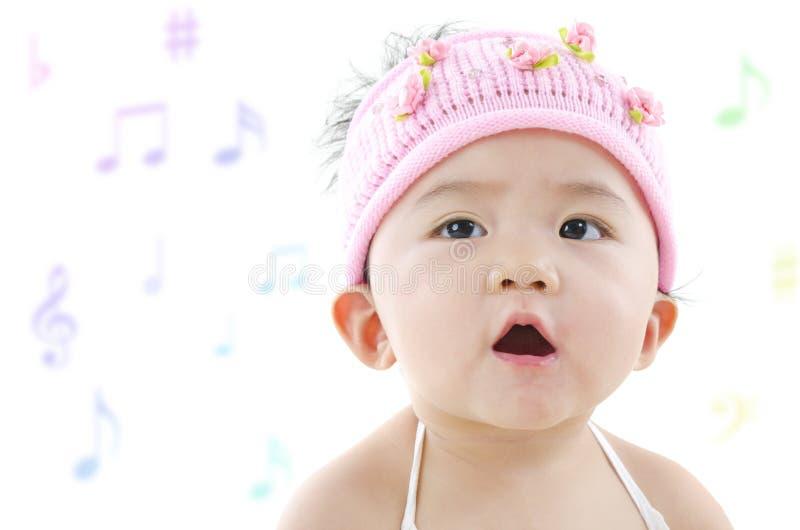 Little singer royalty free stock photo