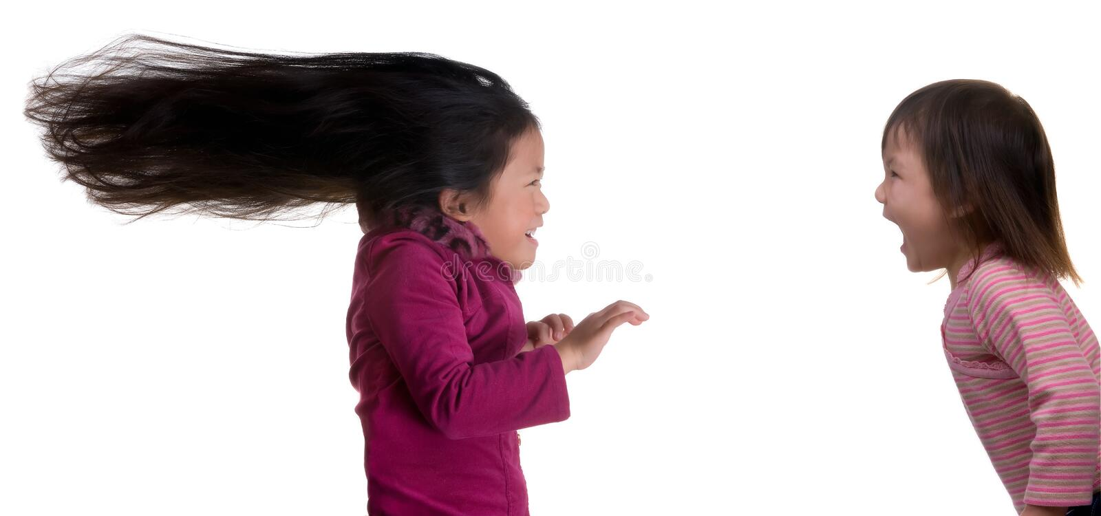 Little Sister Power Royalty Free Stock Image
