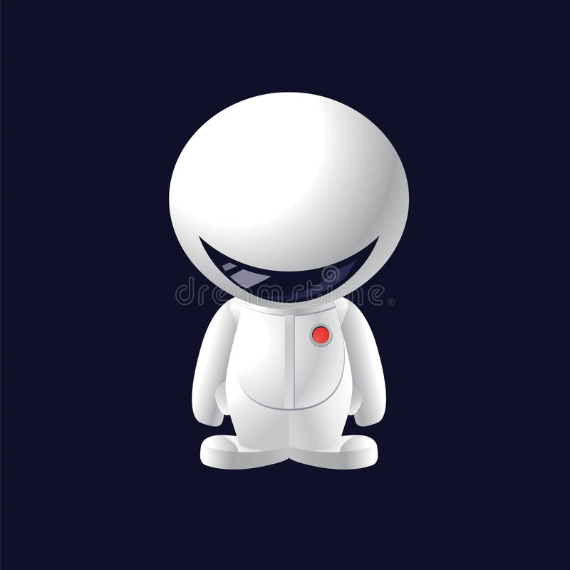 Little Smile Astronaut Stock Images