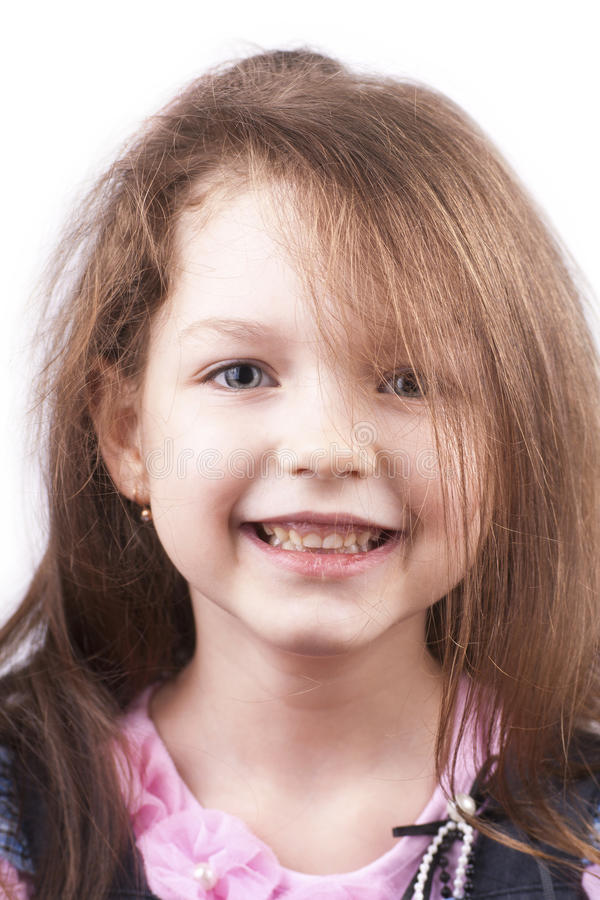 Little smiling pretty girl close up royalty free stock image