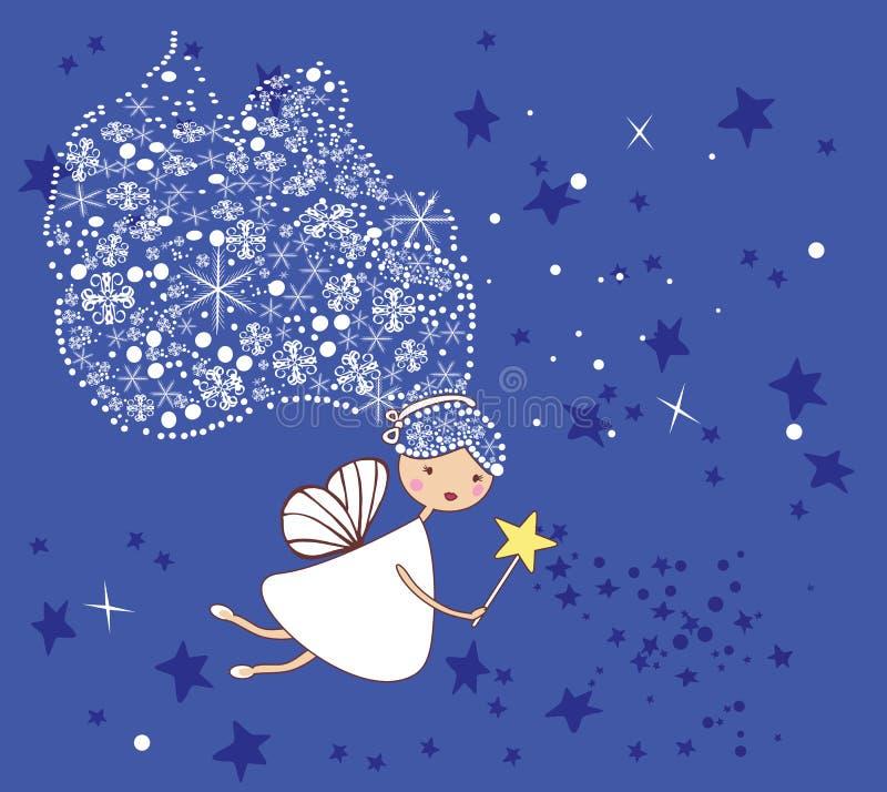 Little snowflake fairy vector illustration