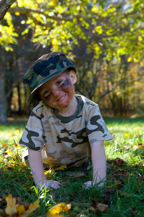 Little Soldier stock photography