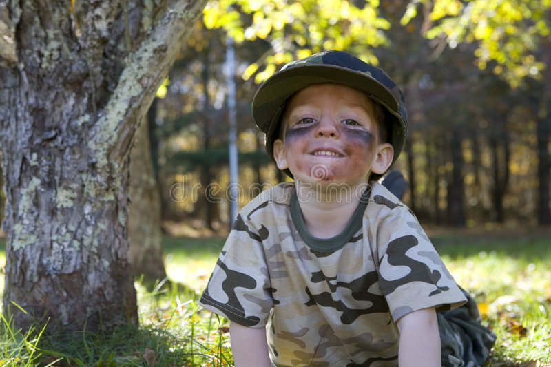 Little Soldier stock image