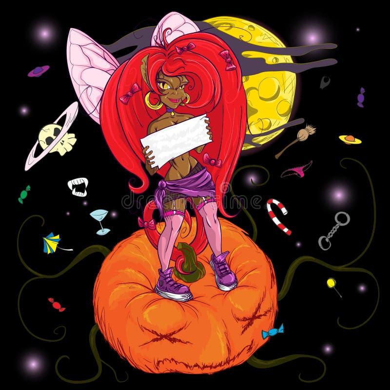 Little spiteful fairy royalty free illustration