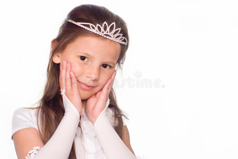 little ståendeprincess royaltyfri bild