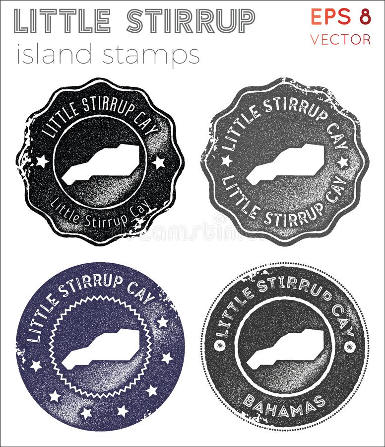 Little Stirrup Cay stamps collection. stock photo
