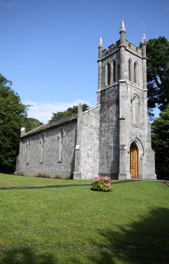 Little stone church in the irish country. Tipperary county. Side view royalty free stock images