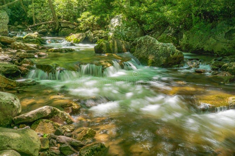 Little Stony Creek, Gile County, Virginia, USA. Little Stony Creek located in the Jefferson National Forest, Giles County, Virginia, USA royalty free stock photo