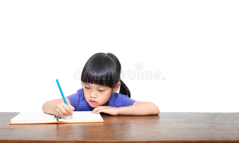 Little student girl royalty free stock photo